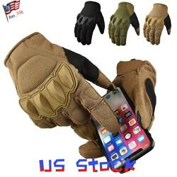 Army Military Combat Shooting Gloves Tactical Hard Knuckle Bicycle Touch Screen $15.09