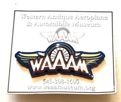Western Antique Aeroplane and Automobile Museum Pin for Cap Lapel Hat WAAAM $8.95