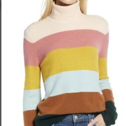 Nordstrom Halogen Stripe Turtleneck Sweater. MEDIUM $25.00
