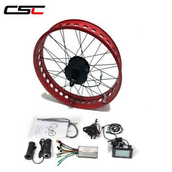 20 24 26#x27;#x27; 4.0 tire Fat Tyre Bike Conversion Electric Kit 36V with Color Rims $298.10