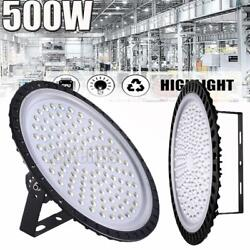 500W UFO LED High Bay Light Shop Lights Warehouse Commercial Lighting Lamp Watt