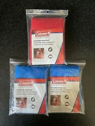 Coleman Emergency Hooded Poncho 50.5in X 40in Universal Size Lot Of 3 $12.00