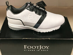NEW FootJoy Contour Fit 54091 Men#x27;s Golf Shoes White 10XW WATERPROOF Were $135 $69.99