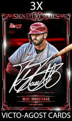 Topps Bunt Signature Series 3 Mike Moustakas Team Color 3X CARDS DIGITAL CARDS $4.95