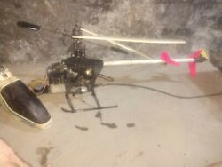 Hirobo Nitro RC Helicopters lot of 4 as parts nice lot $400.00