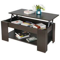Lift Top Coffee Table Living Room Furniture w Hidden Compartment Storage Shelf $95.99