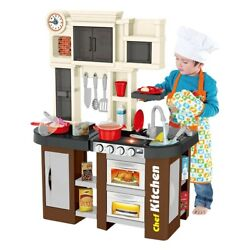 Large Kitchen Kids Play Set Pretend Baker Toy Cooking Playset Food Accessories $54.49