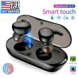 TWS Bluetooth 5.0 Wireless Earphones Stereo Headset Mini In Ear For iOS Android $9.99