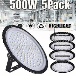 5X 500W UFO LED High Bay Light Shop Lights Warehouse Commercial Lighting Lamp