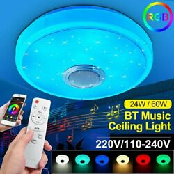 60W Bluetooth Ceiling Light APP Remote Control RGB Dimmable Music Ceiling Lamp $47.99
