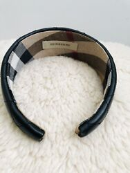BURBERRY LONDON BLACK LEATHER QUILTED HEADBAND Women's. $90.00