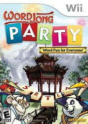 Word Jong Party For Wii Puzzle Very Good 4E $7.80