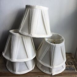 Natural white pleated chandelier shades $45.00