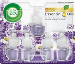 Air Wick Plug in Scented Oil 5 Refills Lavender and Chamomile 5x0.67oz Esse $12.89