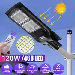 468 LED Commercial LED Solar Street Light Motion Sensor Dusk to DawnRemotePole