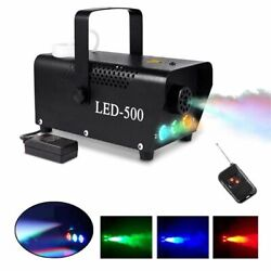 500W Smoke Fog Machine RGB Muti Color LED DJ Party Wedding Stage Light w Remote $34.99