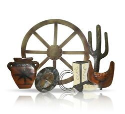 Metal Western Wall Décor 32 by 23quot; Farmhouse Rustic Home Decor Living room $33.99