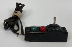 Lionel O O27 Scale Black Automatic Switch Controller 2 Bulb Vintage Train Wired $13.85