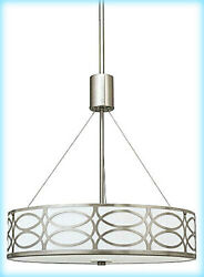 Kira Home 18quot; RV CC1969033 Chandelier Glass Diffuser Brushed Nickel #NO8965 $59.98