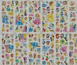 4x SHTS DIFFERENT STYLES 3D PUFFY REUSABLE SCRAP BOOK STICKERS PRINCESS GBP 2.50