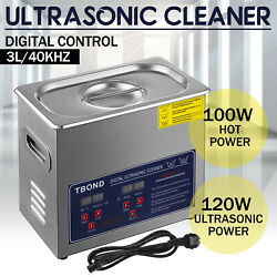 Stainless Steel Industry Ultrasonic Cleaner 3L Heated Heater w Timer USA $65.00