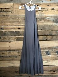 Womens at Maxi Dress Sz S Brown Zipper Racer Back $12.00