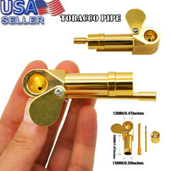 Brass Tobacco Smoking Pipe Brass Chamber Bowl Hand Proto Pipes $11.99