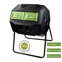 Large Compost Tumbler Bin Outdoor Garden Rotating Dual Compartment Better Air $113.11
