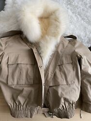 mr amp; mrs italy Faux Fur Oversized Jacket Size M Chestnut Brand New $406.00