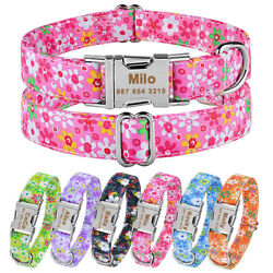 Extra Large Medium Small Personalized Dog Collar Custom Engraved Pets Dogs Name $7.77