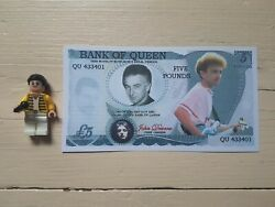 QUEEN FREDDIE MINIFIGURE PLUS NOVELTY NOTE GBP 7.99