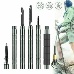 Trekking Walking Stick Survival Tool Folding Pole Outdoor Camping Hiking Defense $32.99