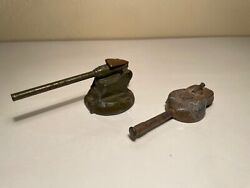 2 Vintage Antique Parts of Toy Cannons $20.00