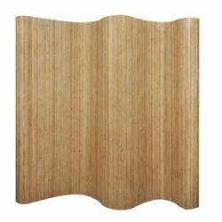Modern Room Divider Bamboo Wood 98.4quot; x 65quot; Partition Privacy Screen Separator $190.99