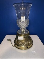 Stiffel Table Lamp Brass amp; Crystal Lamp Detailed With Extra Bulbs $25.00