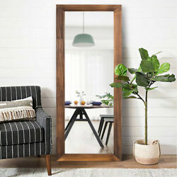 Antique 63quot; Full Length Floor Mirror Wood Framed Wall Mounted Dress Bedroom Home $104.49