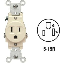 Leviton Commercial Grade Shallow Single Outlet