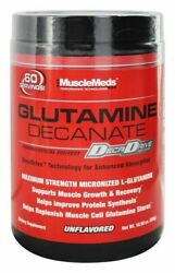 MUSCLEMEDS GLUTAMINE DECANATE Micronized 60 Servings Unflavored BUILD MUSCLE $18.99