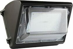 Outdoor Commercial Flood Light 80W LED Wall Pack 10400 Dusk to dawn Photocell