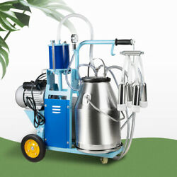 Electric Milking Machine Milker For farm Cows Bucket 25L 304 Stainless Bucket $779.00