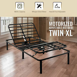 Adjustable Twin XL Bed Frame Electric Head and Foot Elevating Metal Bed Base $342.36