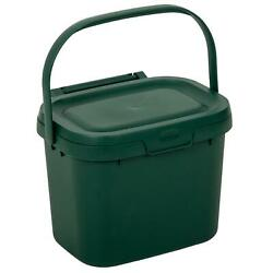Addis 4.5L Kitchen Compost Storage Caddy Food Waste Recycling Bin Handle Green $34.30