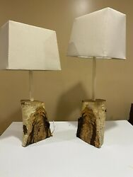 Hand crafted wooden lamps $195.00