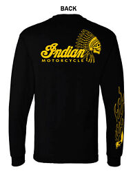 INDIAN MOTORCYCLE GRAPHIC T SHIRT LONG SLEEVE $19.99
