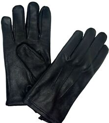 GENUINE LEATHER GLOVES MEN#x27;S LAMBSKIN SHEEP WINTER LINED DRIVING PREMUIM QUALI $19.99
