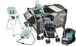 Baby Stroller Travel System with Car Seat Infant Playard Swing High Chair Set $535.00