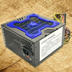 Brand NEW Lead Power 650w MAX BLUE ATX Power Supply 204Pin SATA amp; PCIe $25.99