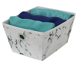 Mainstays Marble Look Storage Bin set of 3 Small Bins 5.5quot;W X 6quot;D X 3.7quot; H $15.00