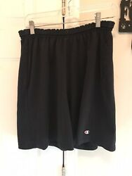 Vintage 90's Champion Shorts Black Size Large 50% Cotton 50% Polyester $14.00