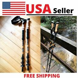 2X Walking Sticks Lightweight 7075 Aluminum Adjustable Trekking Hiking Poles New $29.91